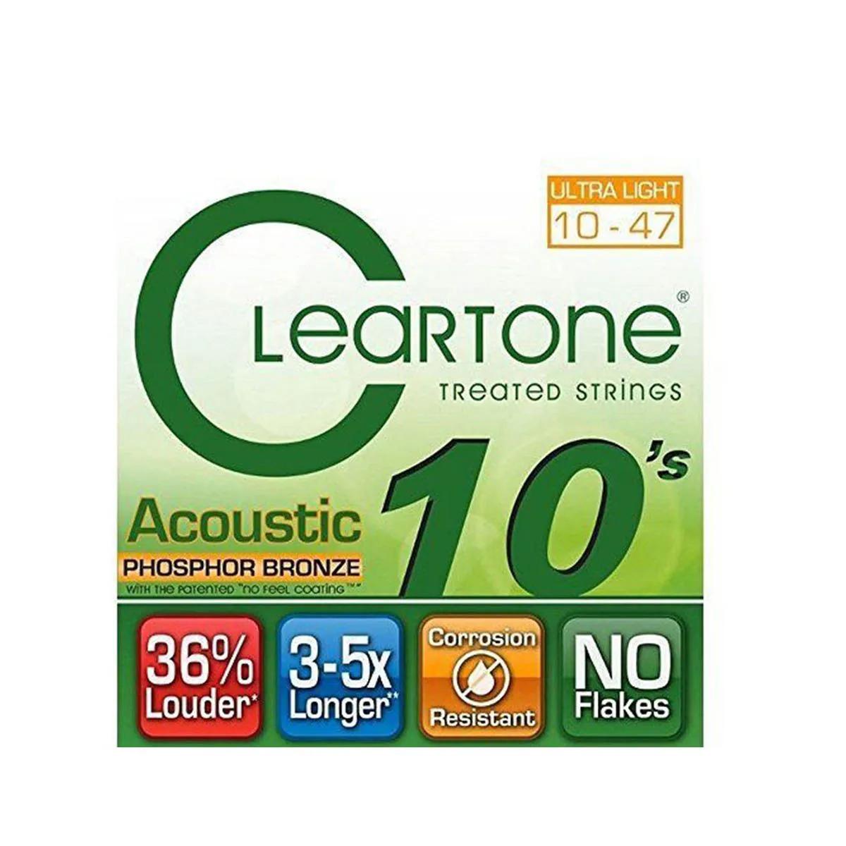 Encordoamento Cleartone 7410 acoustic .10/.47 Para Violão
