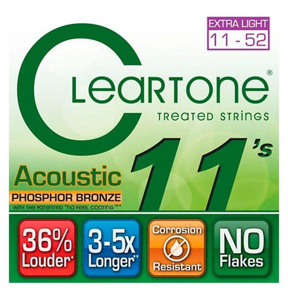 Encordoamento Cleartone 7411 Acoustic .011/.52 Violão