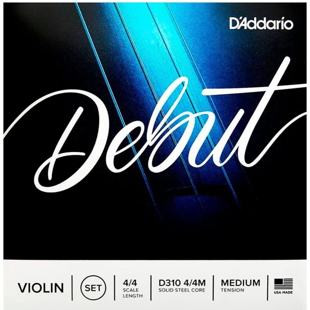 Encordoamento D'addario D310 Debut Tensão Média para Violino