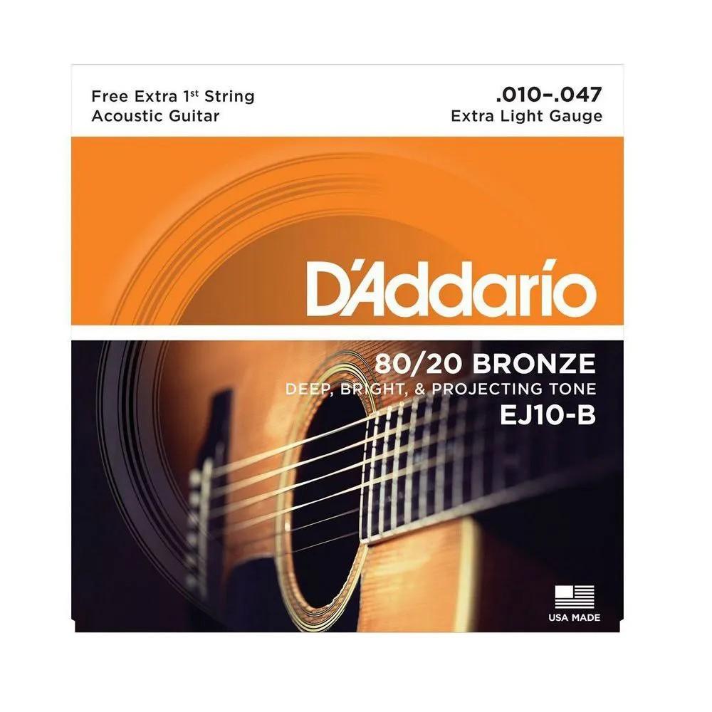 Encordoamento D'addario EJ10B PL010 .010/.047 para Violão