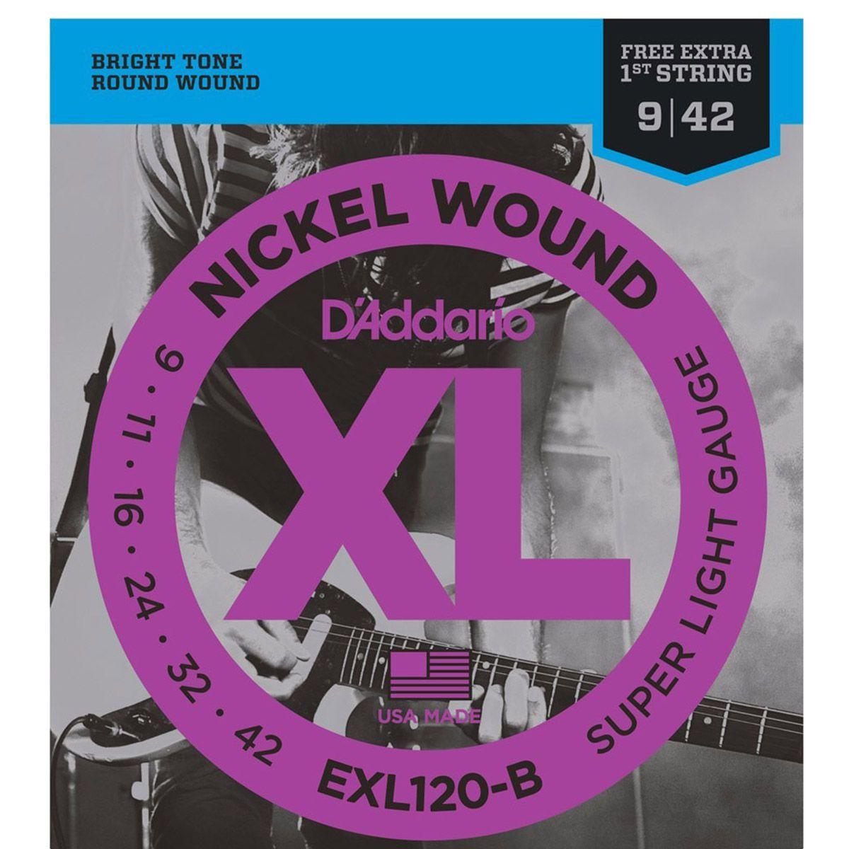 Encordoamento D'addario EXL120B PL009 .09/.042 para Guitarra