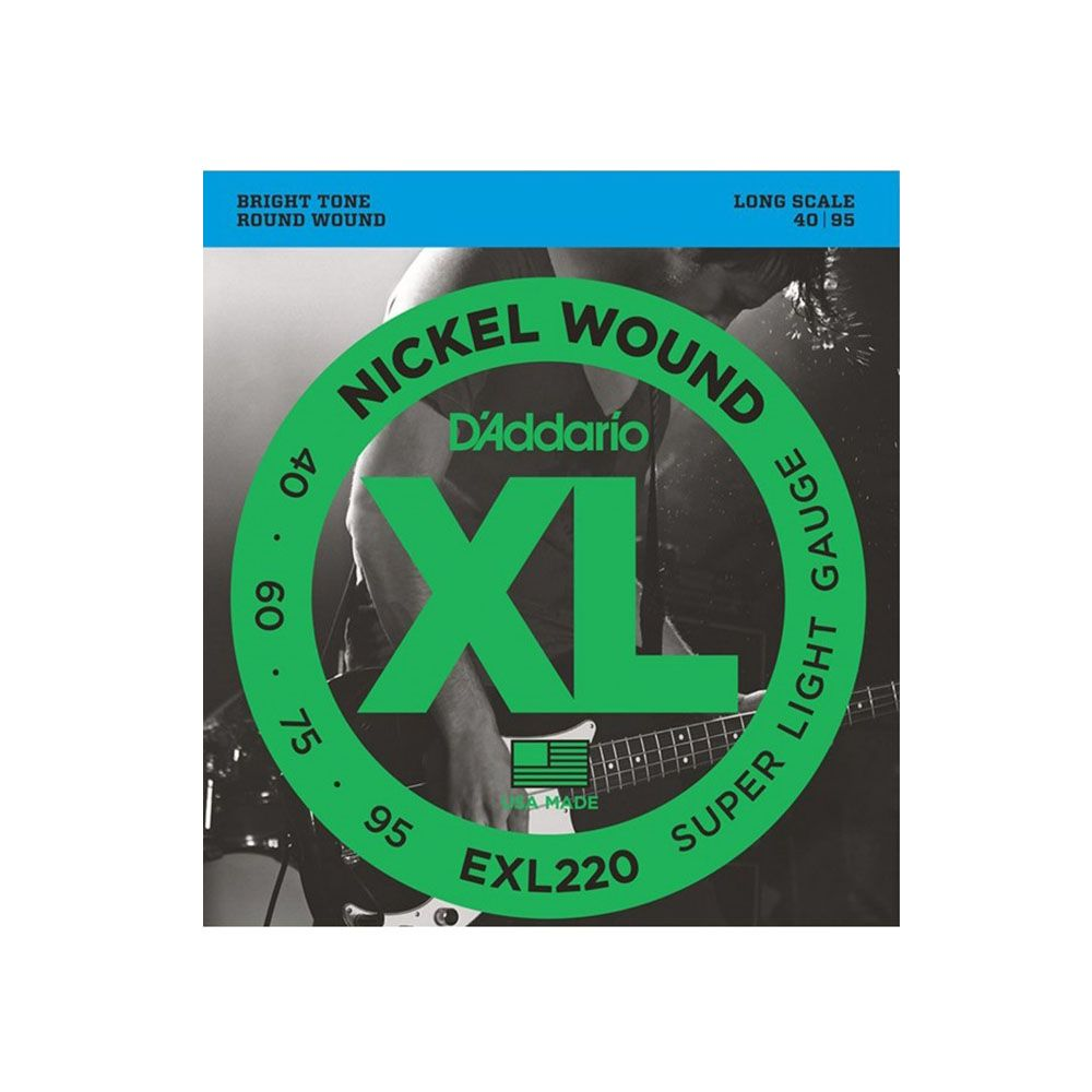 Encordoamento D'addario EXL220 4C .40/.95 Para Contrabaixo