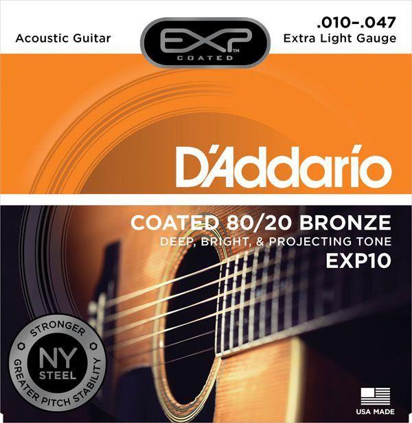 Encordoamento D'addario EXP10 6 Cordas .010/.047 para Violão
