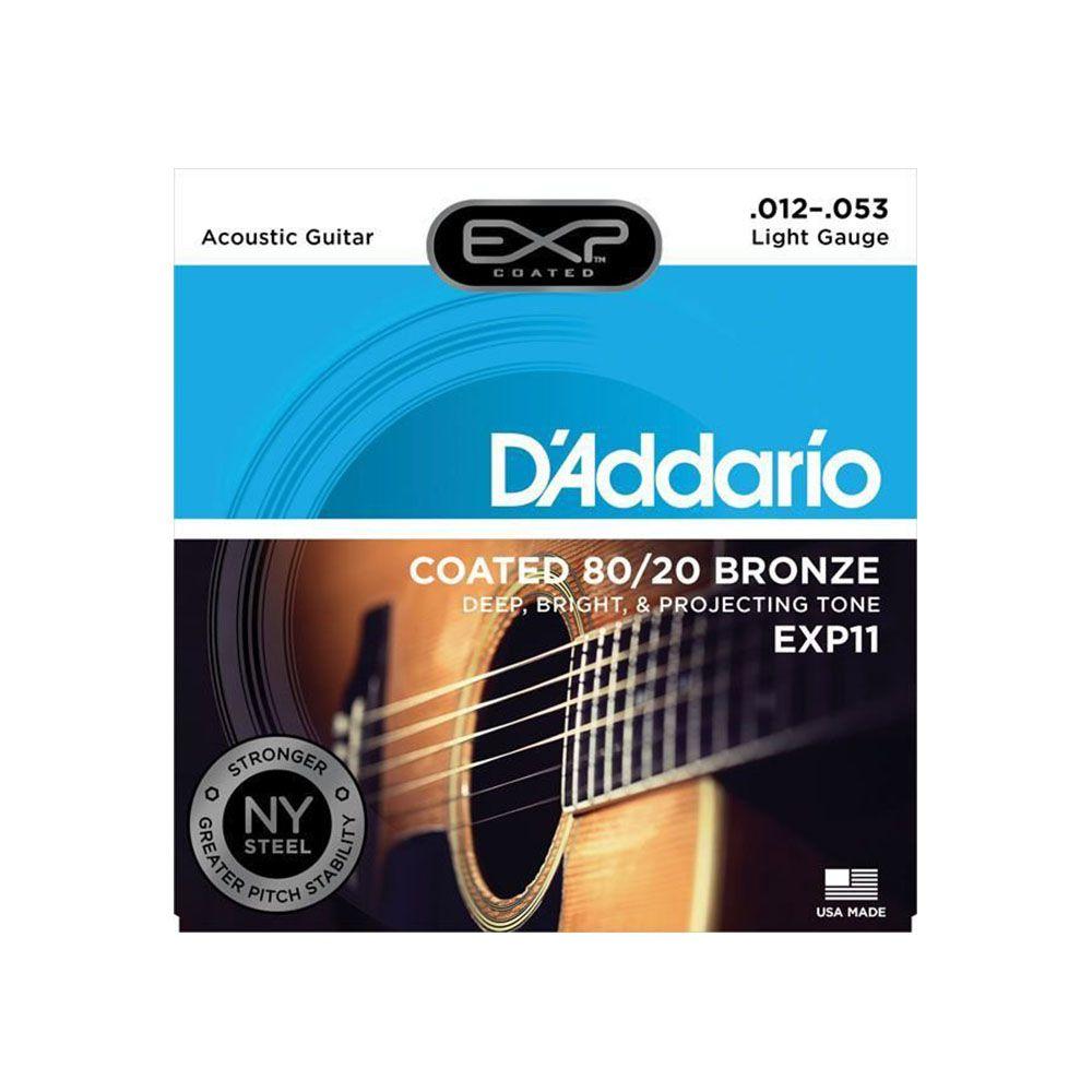 Encordoamento D'addario EXP11 6C .012/.053 para Violão