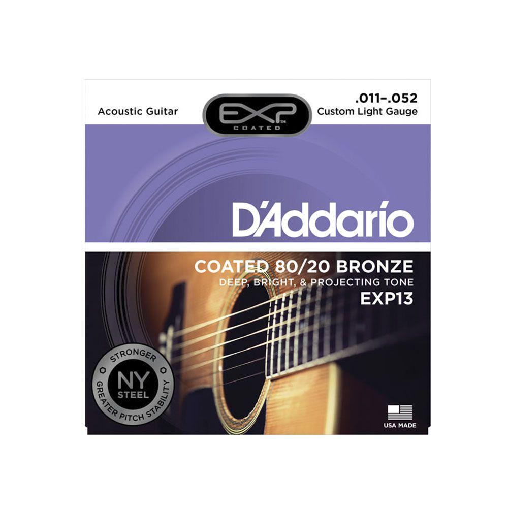 Encordoamento D'addario EXP13 80/20 Bronze 11/52 Para Violão