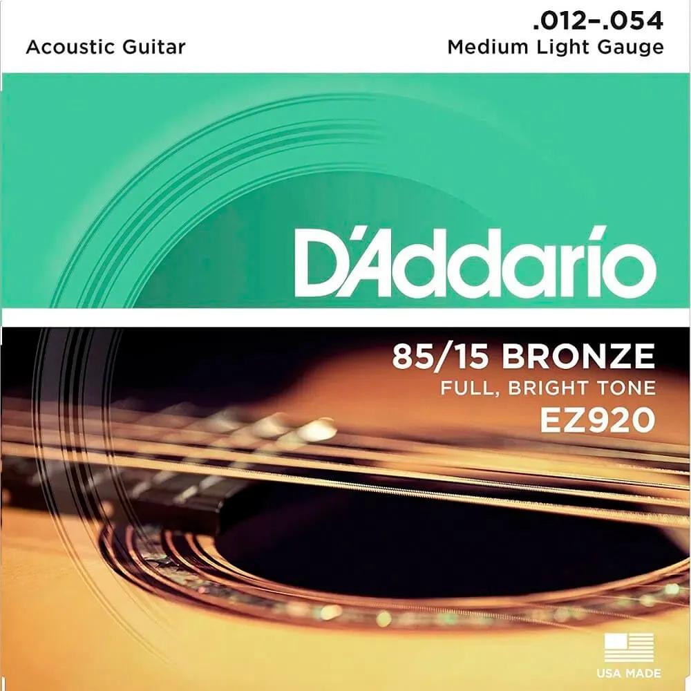 Encordoamento D'addario EZ920 012/054 para Violão Aço
