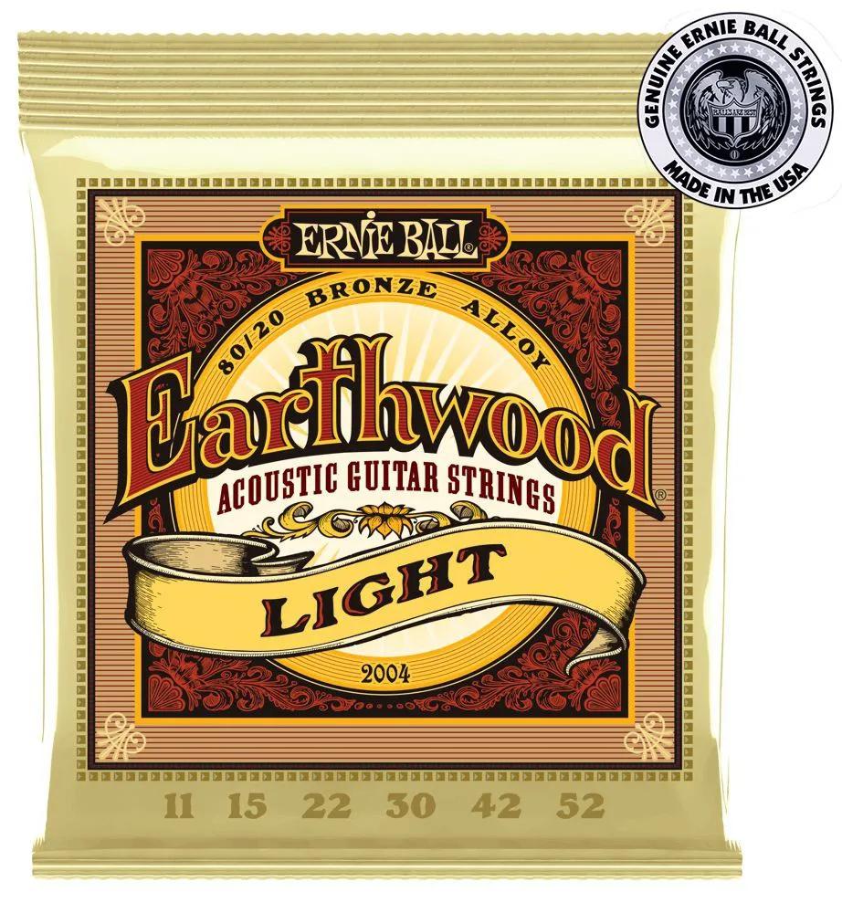 Encordoamento Ernie Ball 2004 Earthwood .011 para Violão Aço