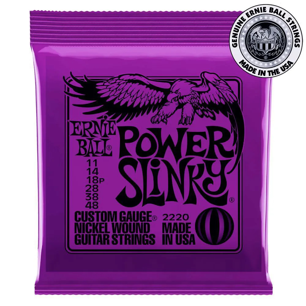 Encordoamento Ernie Ball Power Slinky .011 para Guitarra