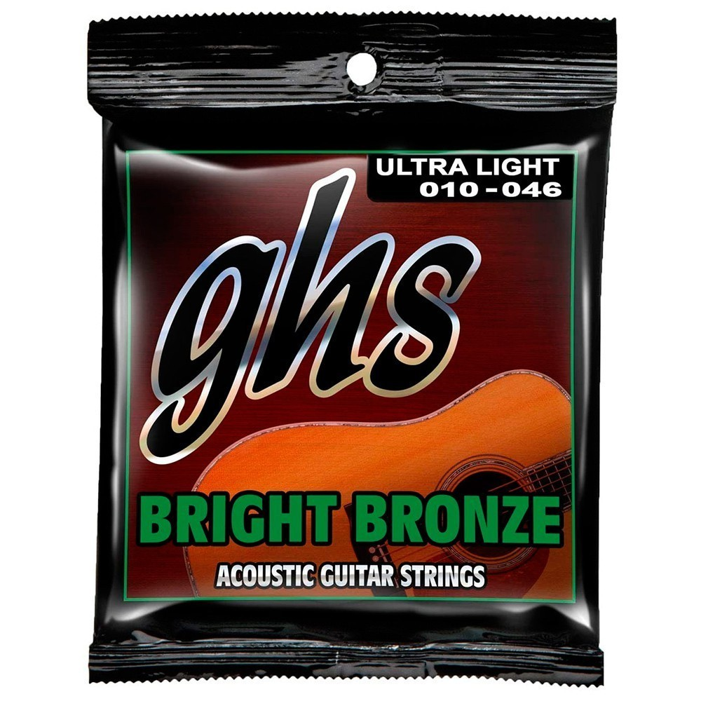 Encordoamento GHS Bright Bronze BB10U 010/046 para Guitarra