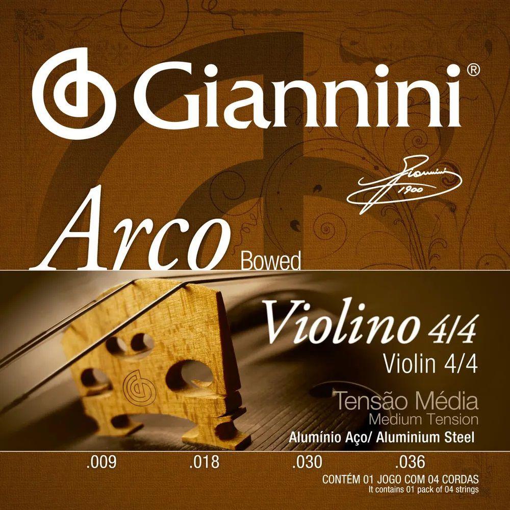 Encordoamento Giannini GEAVVA 009/036 Alumínio para Violino