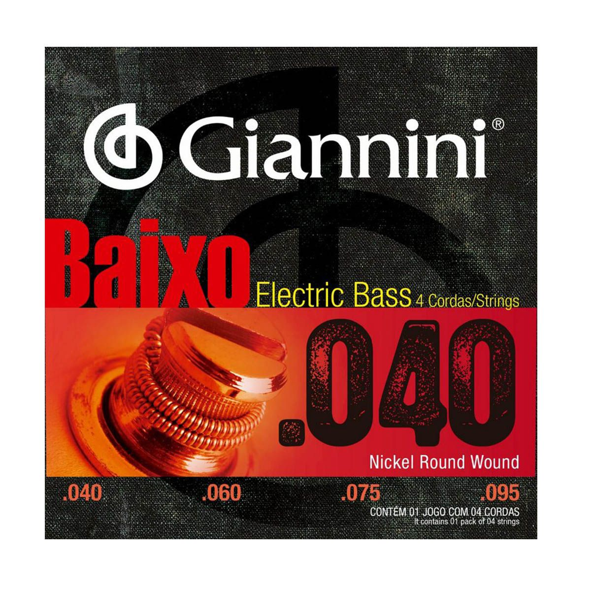 Encordoamento Giannini GEEBRL .040/.095 para Contrabaixo