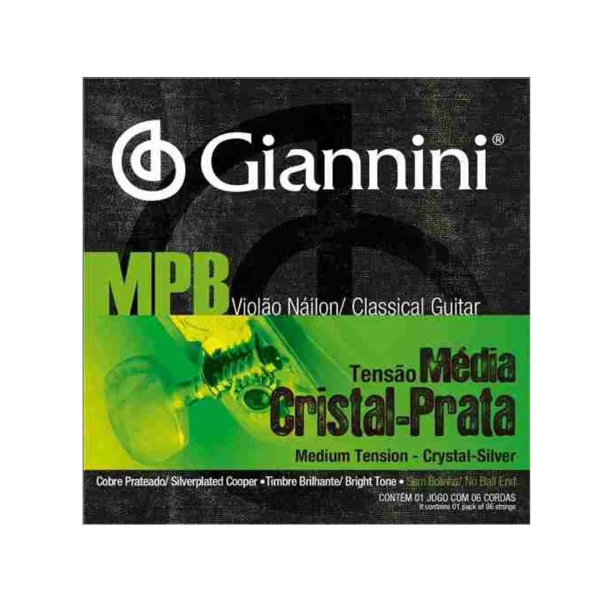 Encordoamento Giannini Genws MPB Tensão Média Violão Nylon