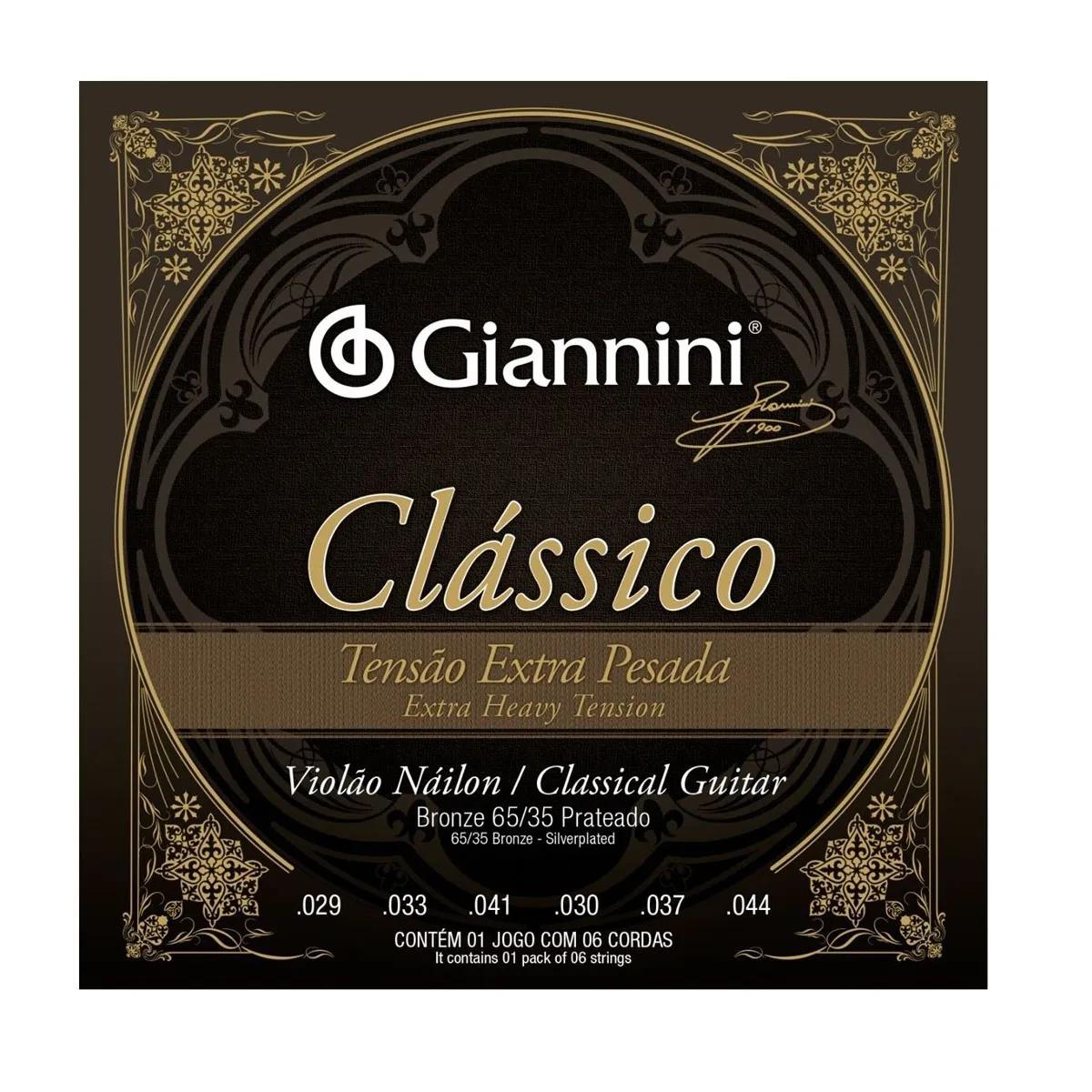 Encordoamento Giannini Genwxpa Clássico Extra Pesada Nylon