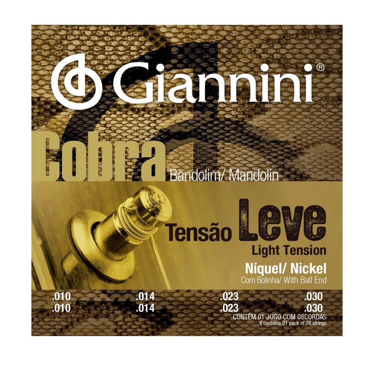 Encordoamento Giannini GESBN .010/.030 Cobra para Bandolim