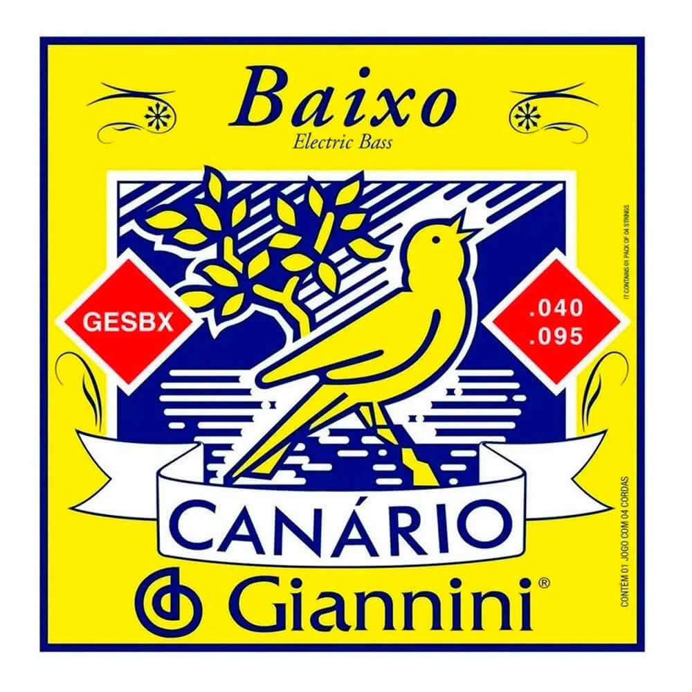 Encordoamento Giannini GESBX .040 para Contrabaixo 4 Cordas