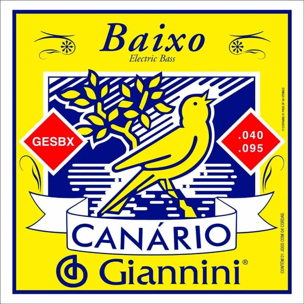 Encordoamento Giannini GESBX Canário 040 para Contrabaixo 4c