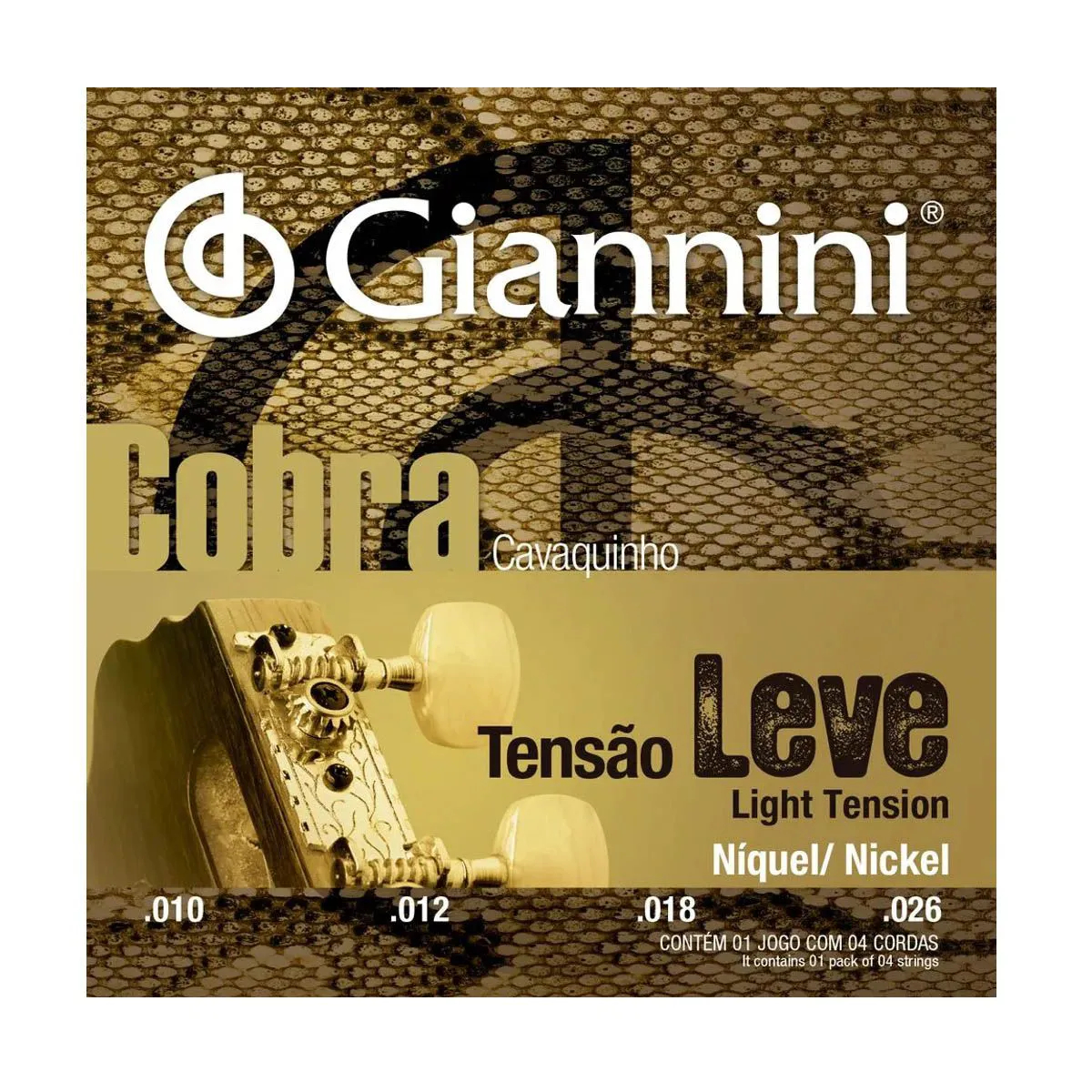 Encordoamento Giannini GESCL 010/026 Leve para Cavaco