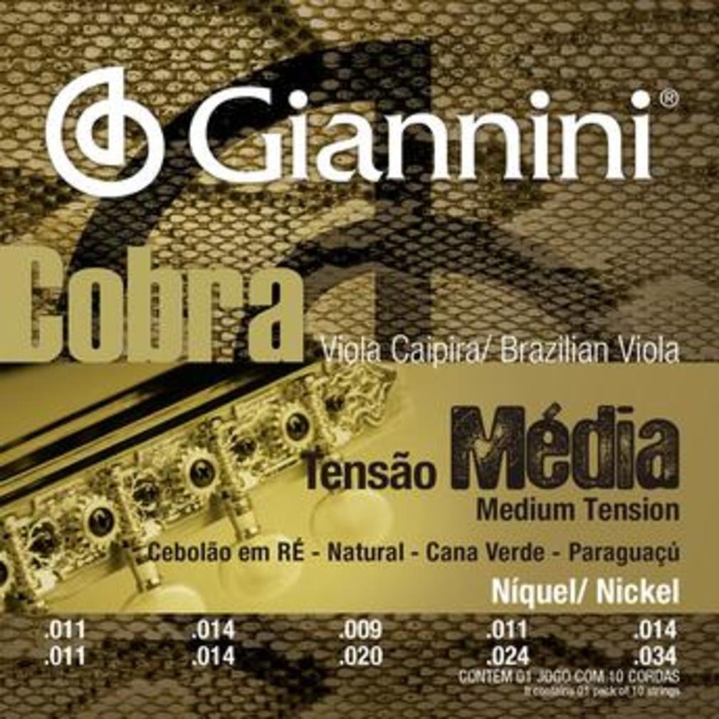 Encordoamento Giannini Gesvnm 011/034 Ré para Viola Caipira