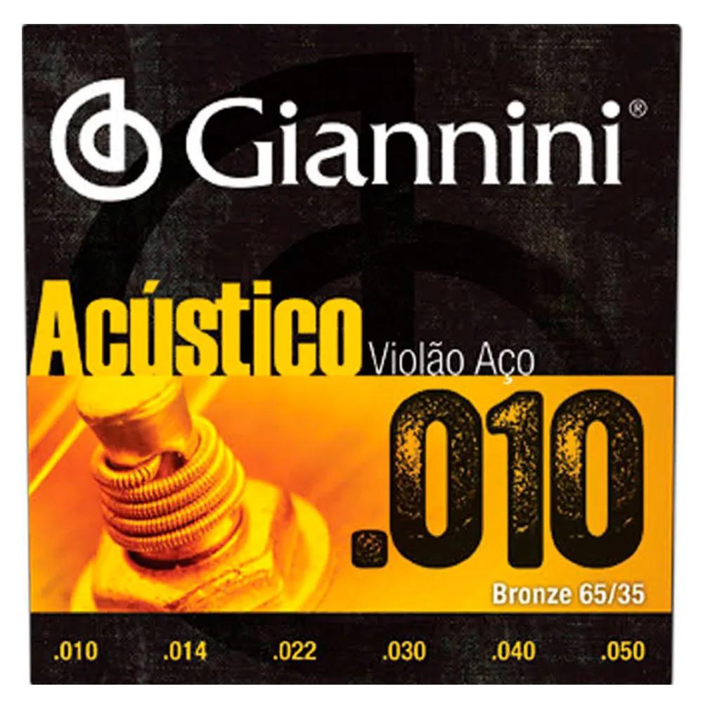 Encordoamento Giannini GESWAM .010/.050 para Violão Aço