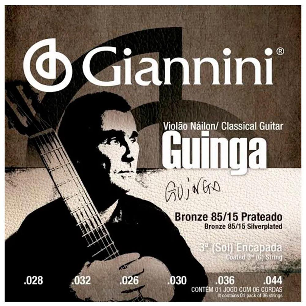 Encordoamento Giannini SSCGG Tensão Alta Guinga Violão Nylon