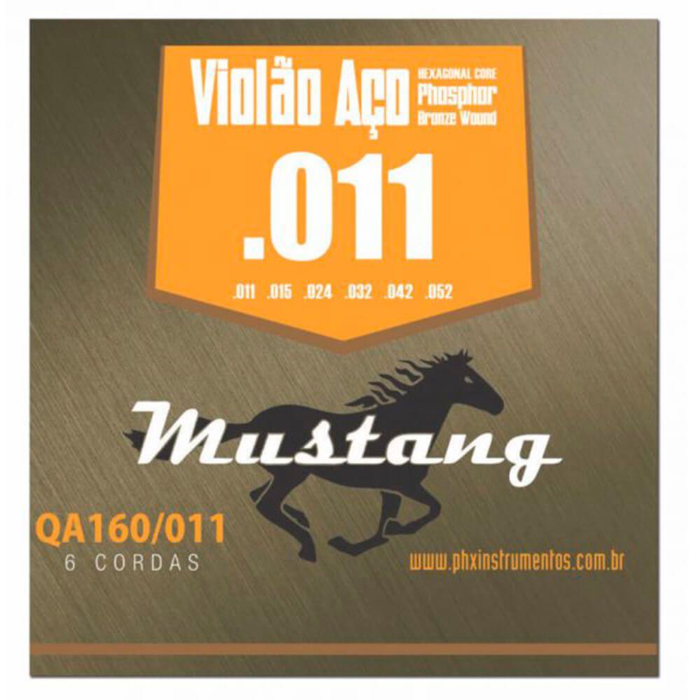 Encordoamento Mustang QA160 .011/.052 para Violão Aço
