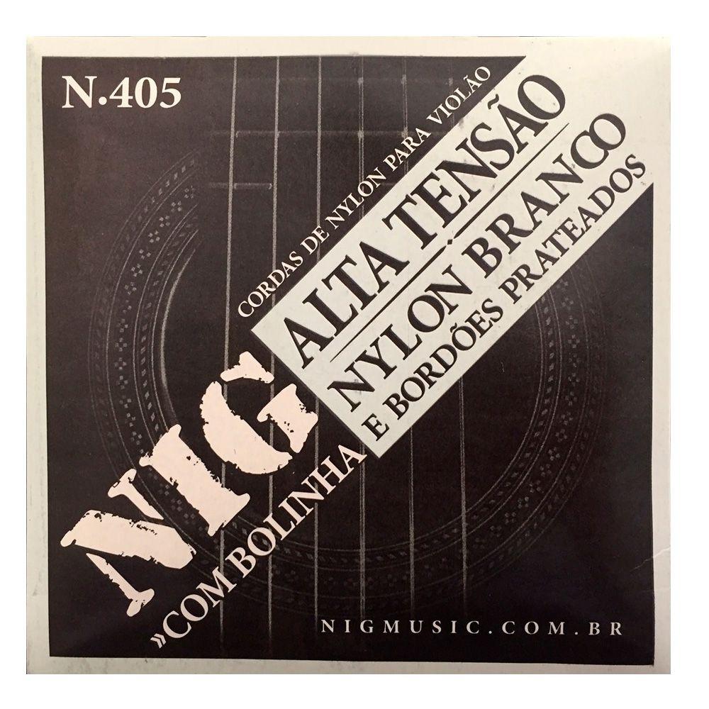 Encordoamento Nig N-405 para Violão Nylon Alta Tensão