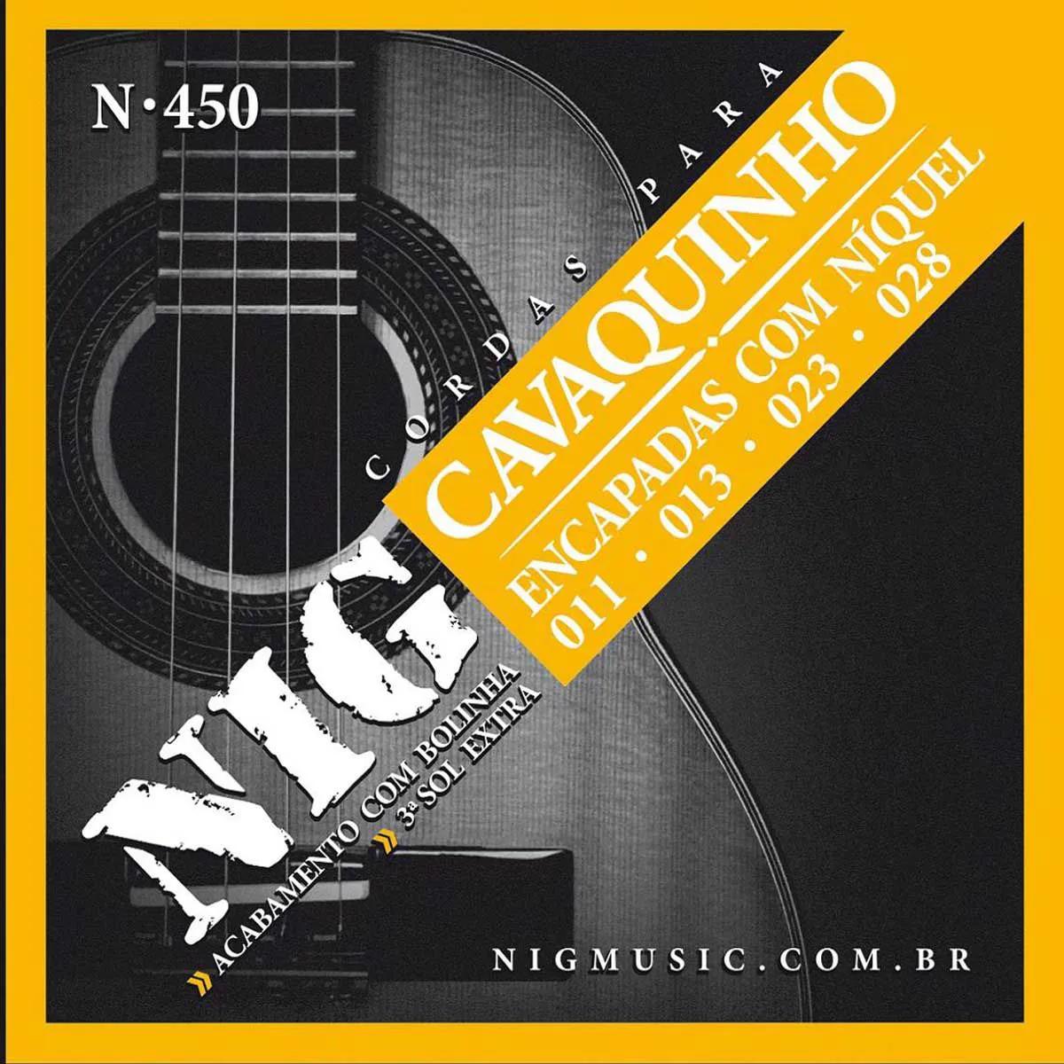 Encordoamento Nig N-450 011/028 para Cavaquinho