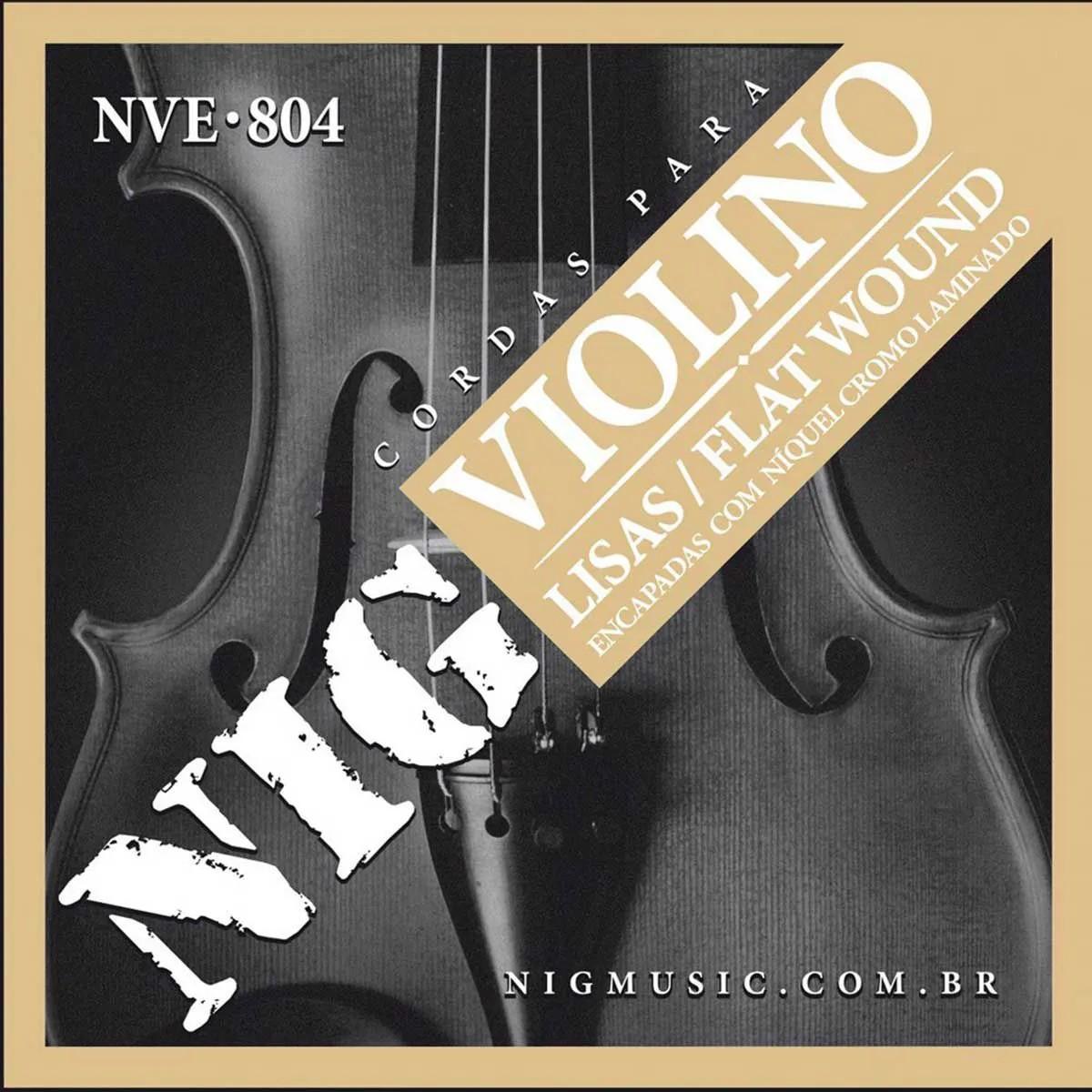 Encordoamento Nig NVE-804 Flat Wound para Violino