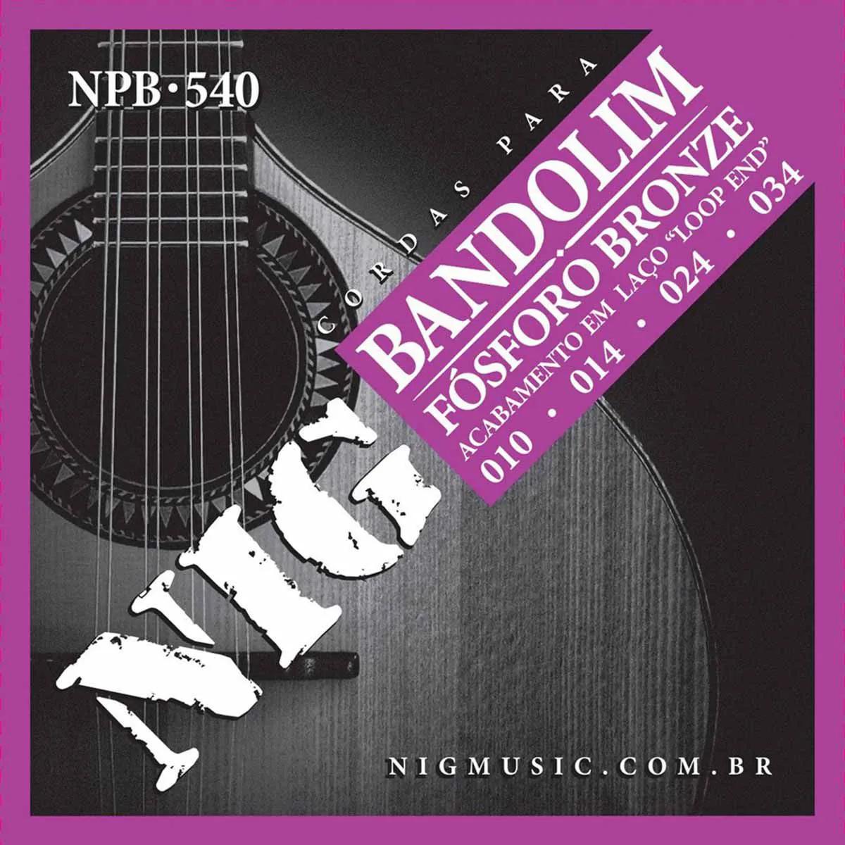 Encordoamento Nig Série NPB540 010/034 para Bandolim