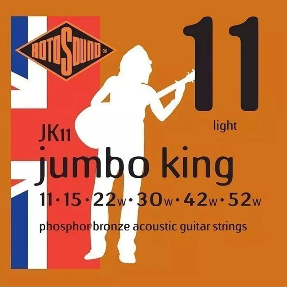 Encordoamento Rotosound JK11 Jumbo King 011/052 para Violão