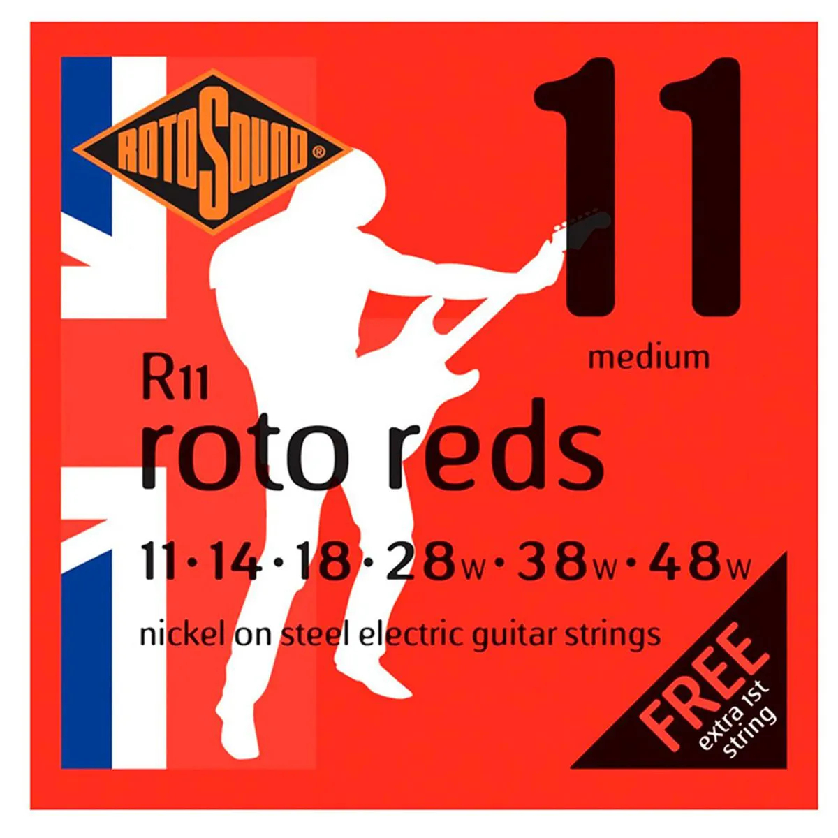Encordoamento Rotosound R11 Red 011/048 para Guitarra