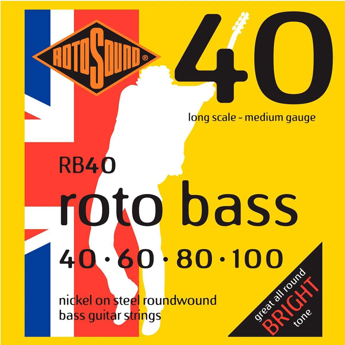 Encordoamento Rotosound RB40 Híbrida 040/100 P/ Contrabaixo
