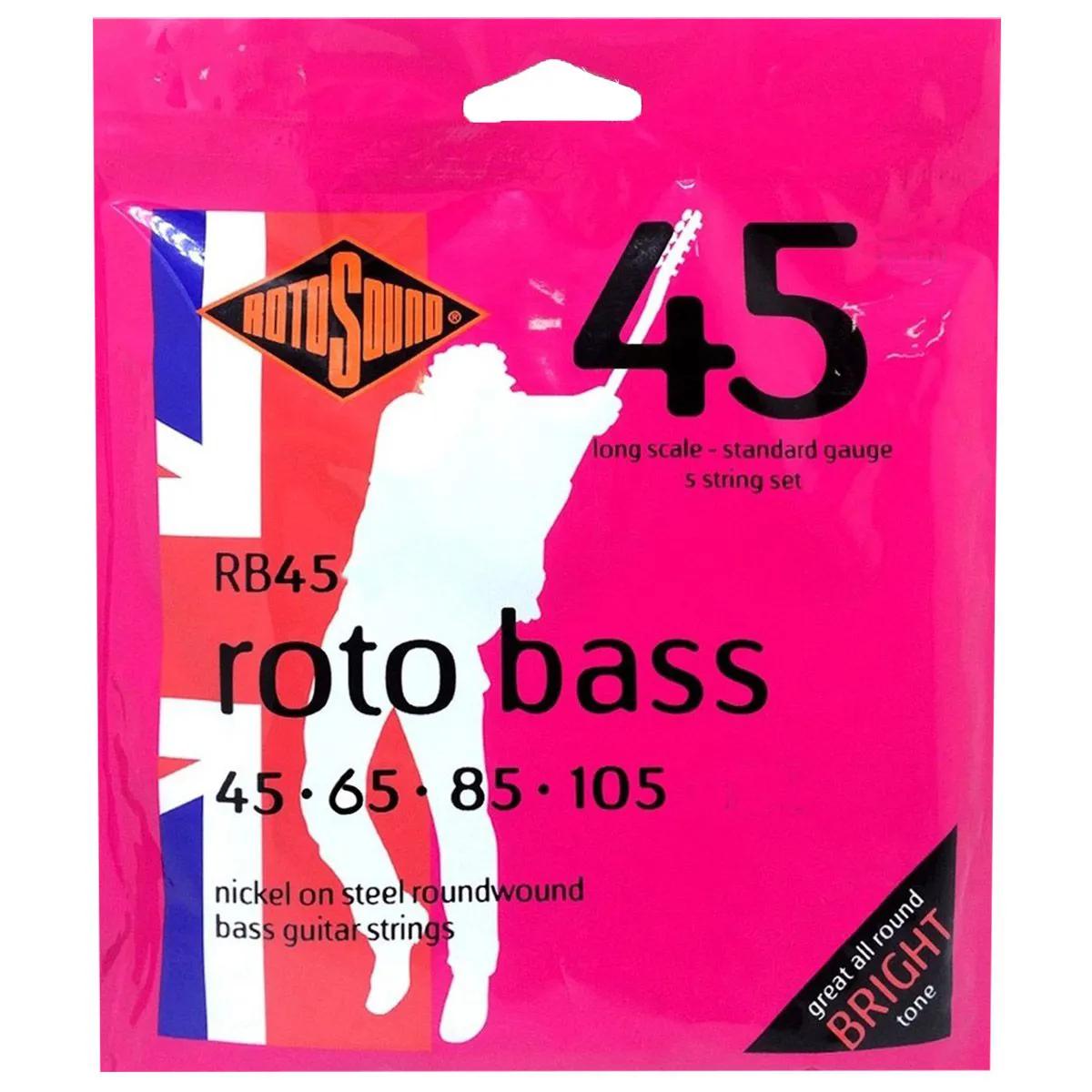 Encordoamento Rotosound RB45 045/105 para Contrabaixo