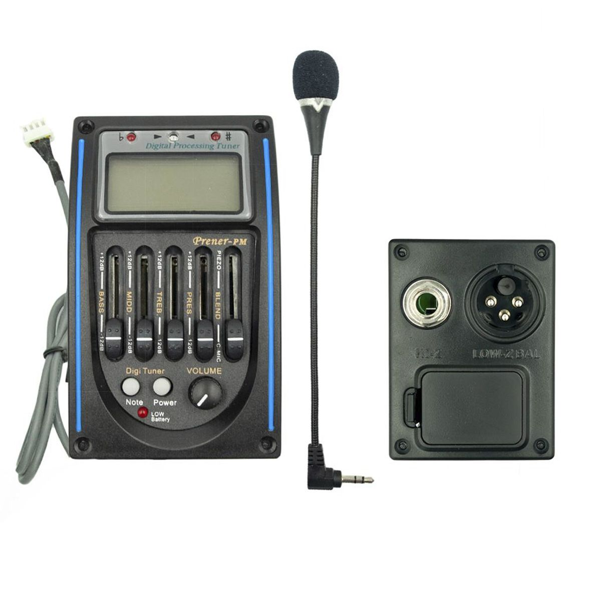 Equalizador 4 Bandas Deval Prener PM C/ Afinador e Microfone