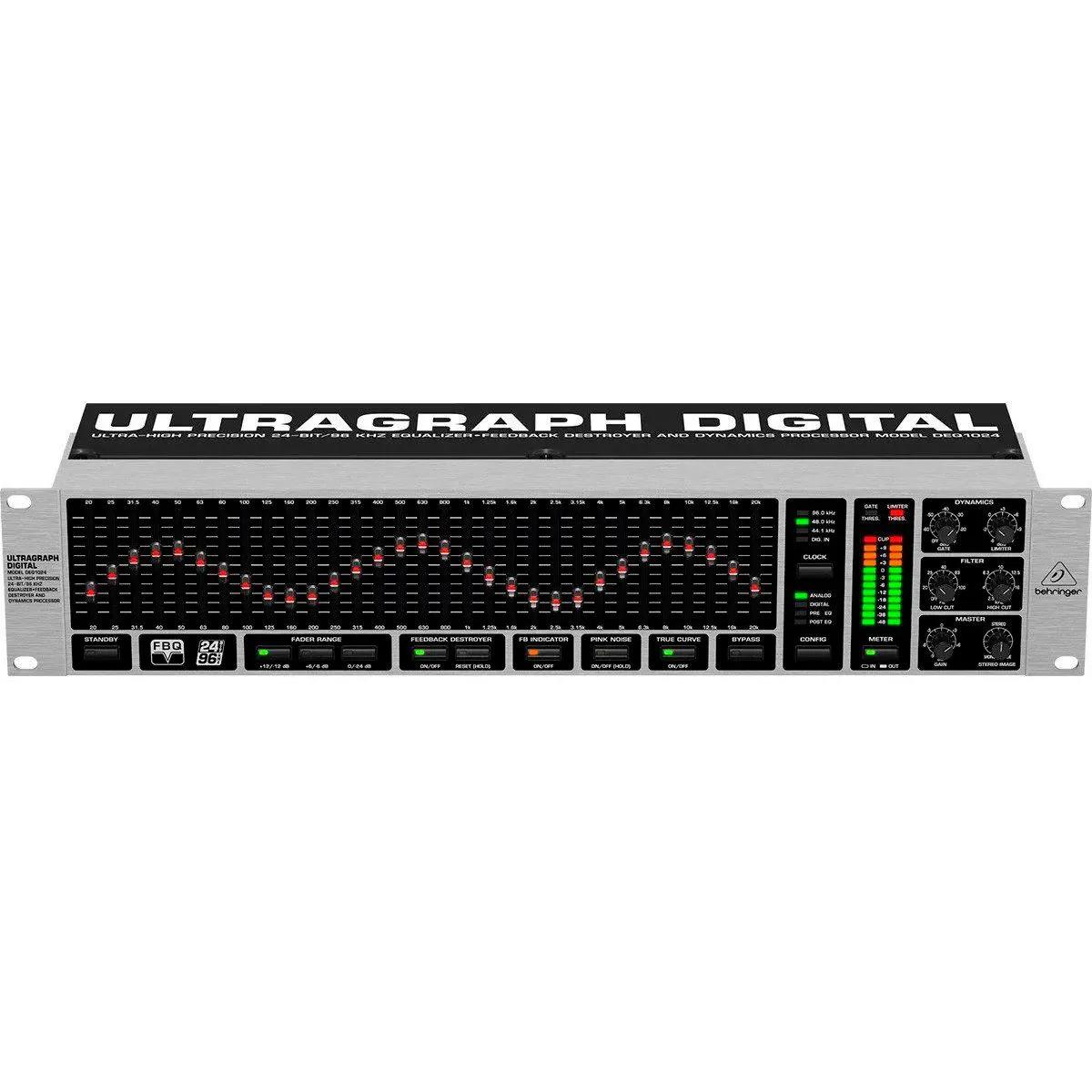 Equalizador Behringer Ultragraph Digital DEQ1024