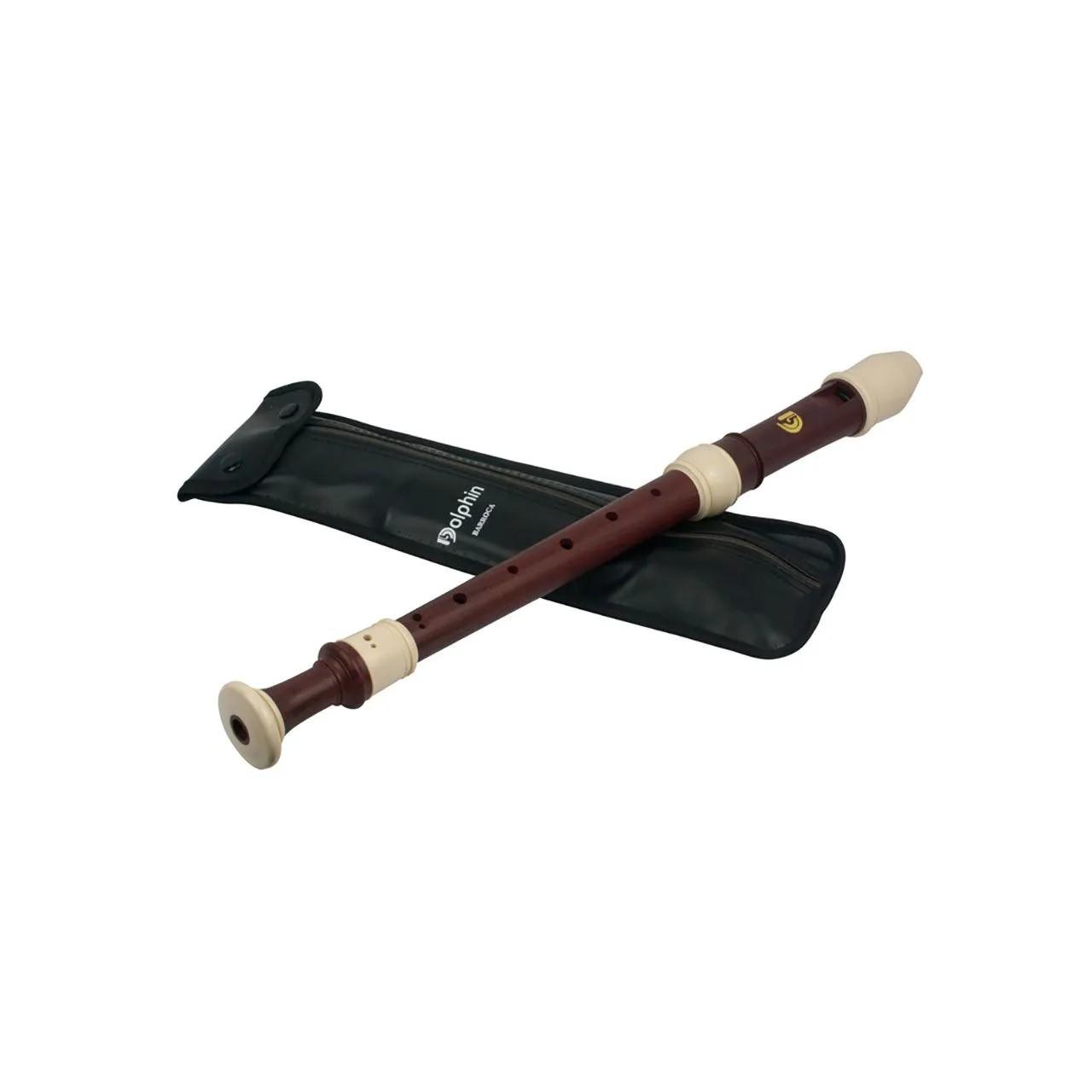 Flauta Doce Barroca Contralto Do Abs Madeira/marfim Dolphin