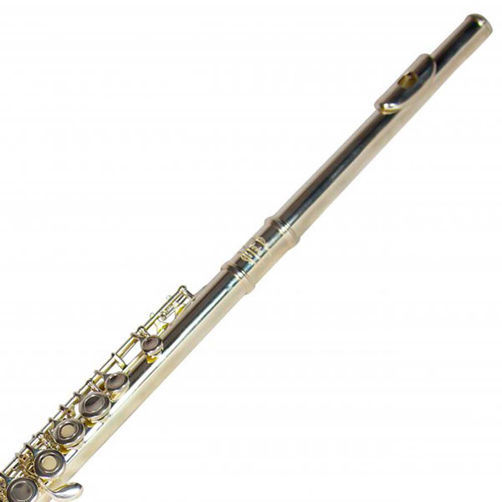 Flauta Transversal Jahnke JFL201 Prateado 17 Chaves Dó