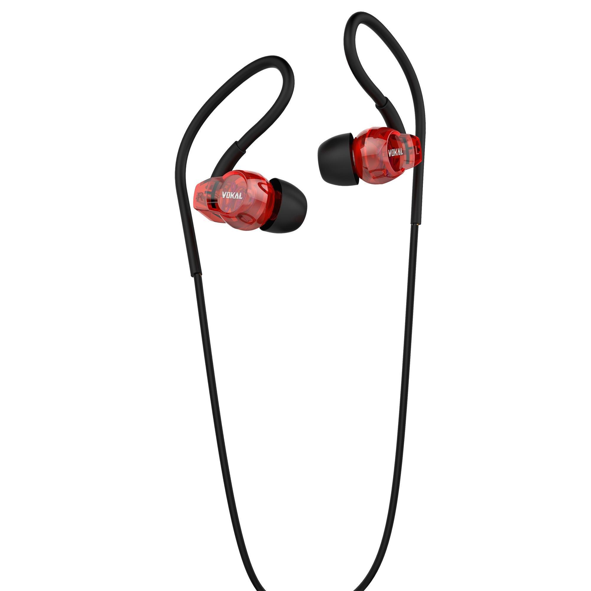 Fone de Ouvido E40 In Ear Vermelho VOKAL