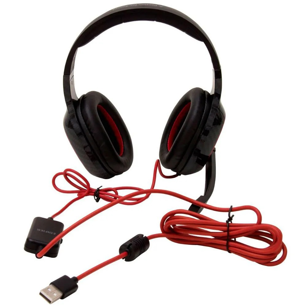 Fone de Ouvido Edifier Gamer G20 Surrond 7.1 Over Ear USB com Microfone