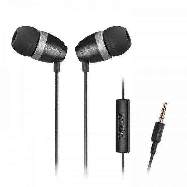 Fone de Ouvido Edifier P210 Estéreo In Ear com Microfone Black