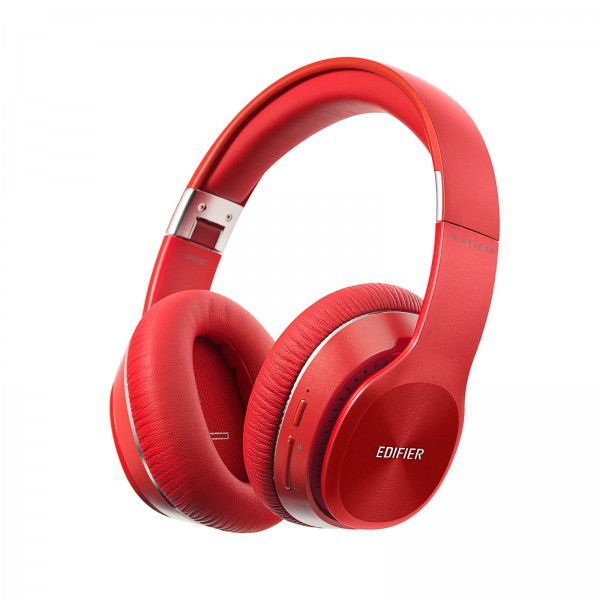 Fone de Ouvido Edifier W820BT Stereo Bluetooth Over Ear Vermelho