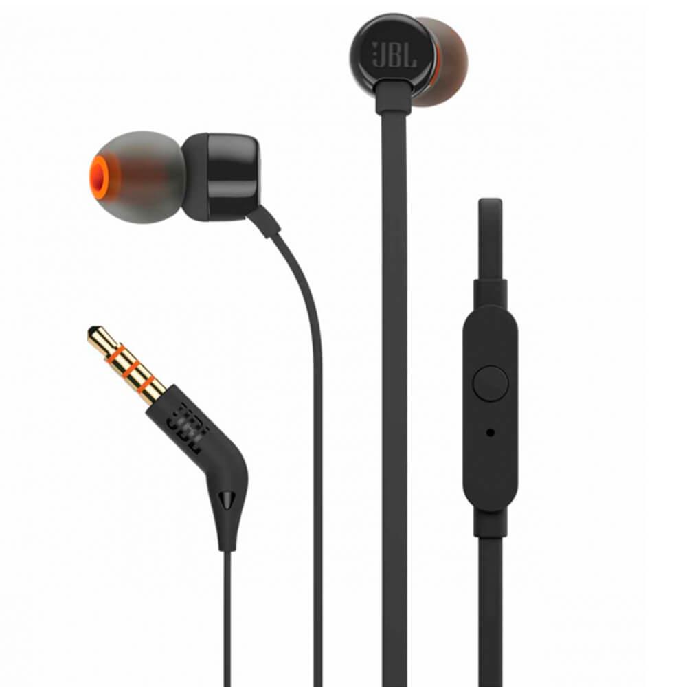 Fone de Ouvido JBL Tune T110 Preto Intra-auriculares