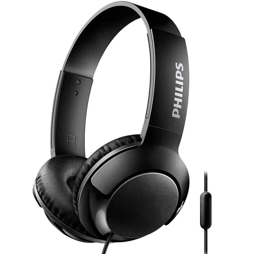 Fone de Ouvido Philips SHL3075 Preto Supra Auricular
