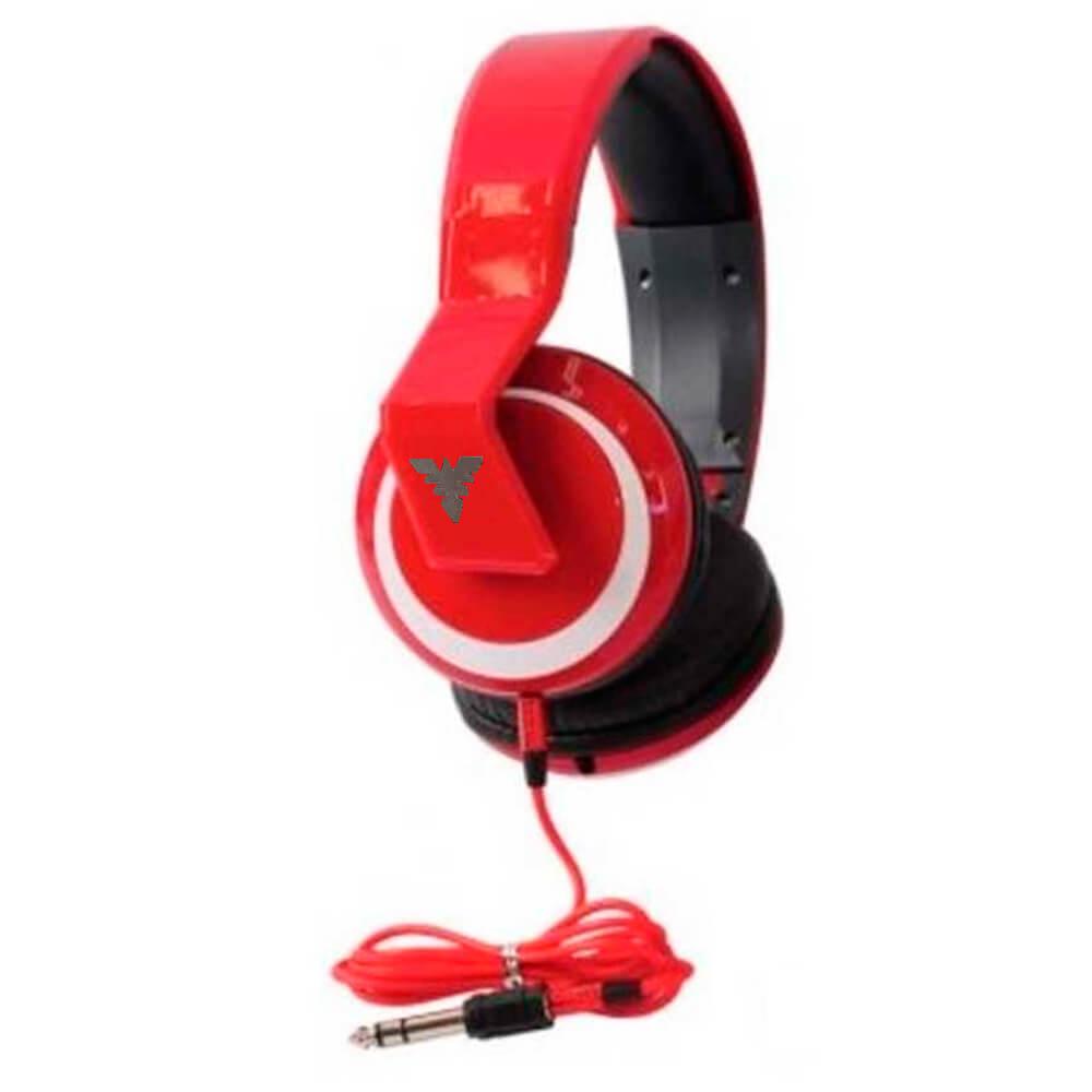 Fone de Ouvido Phx Leg-5 No-5899 Over-Ear Vermelho
