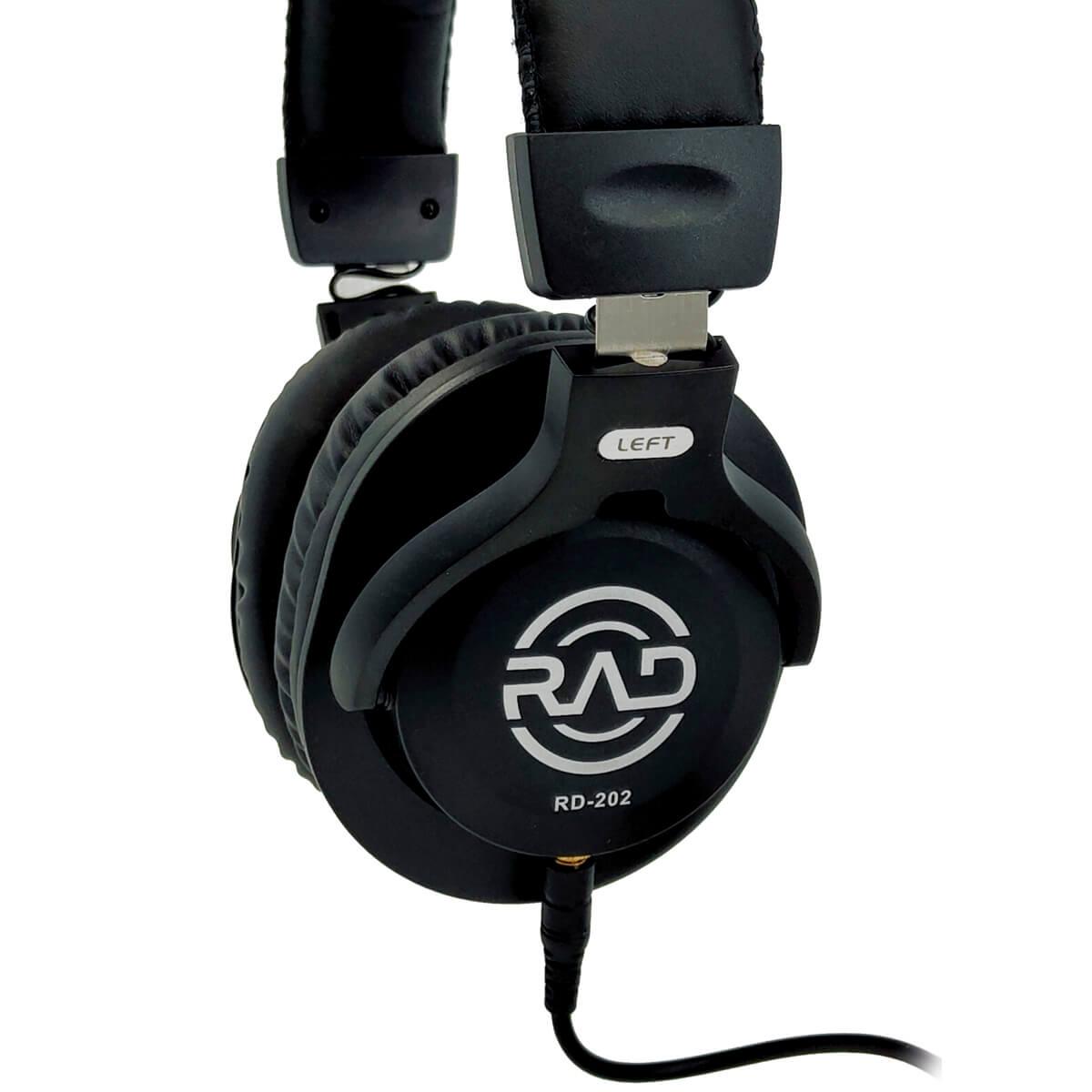 Fone de Ouvido Profissional Rad Audio RD202 para Monitoração