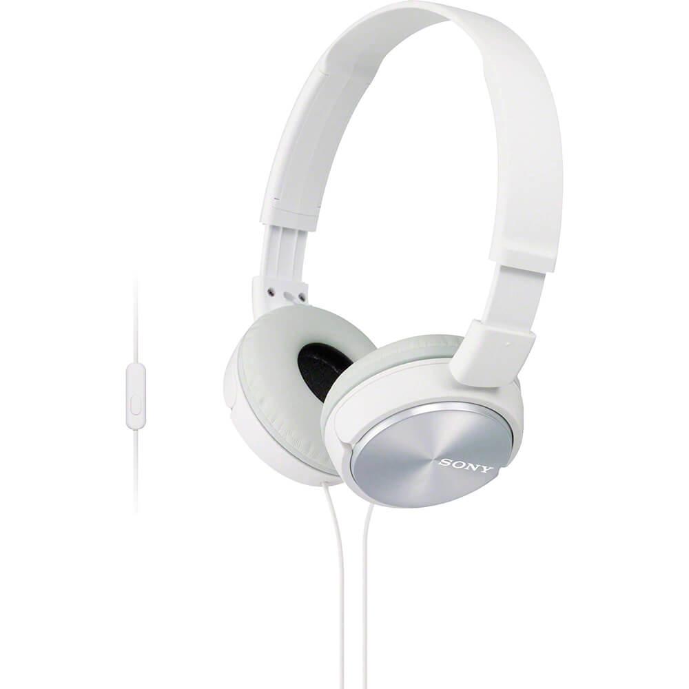 Fone de Ouvido Sony MDR-ZX310AP Branco com Microfone