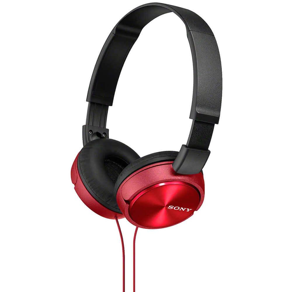Fone de Ouvido Sony MDR-ZX310AP Preto/Vermelho com Microfone