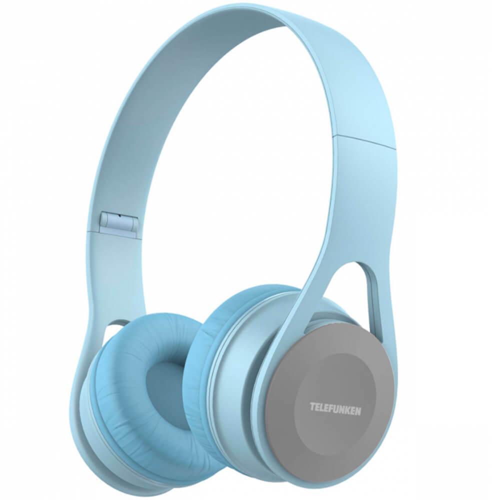 Fone de Ouvido Telefunken TF-H300 Over-Ear Azul Claro