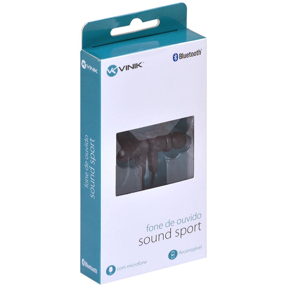 Fone de Ouvido Vinik Sound Sport Bluetooth com Microfone