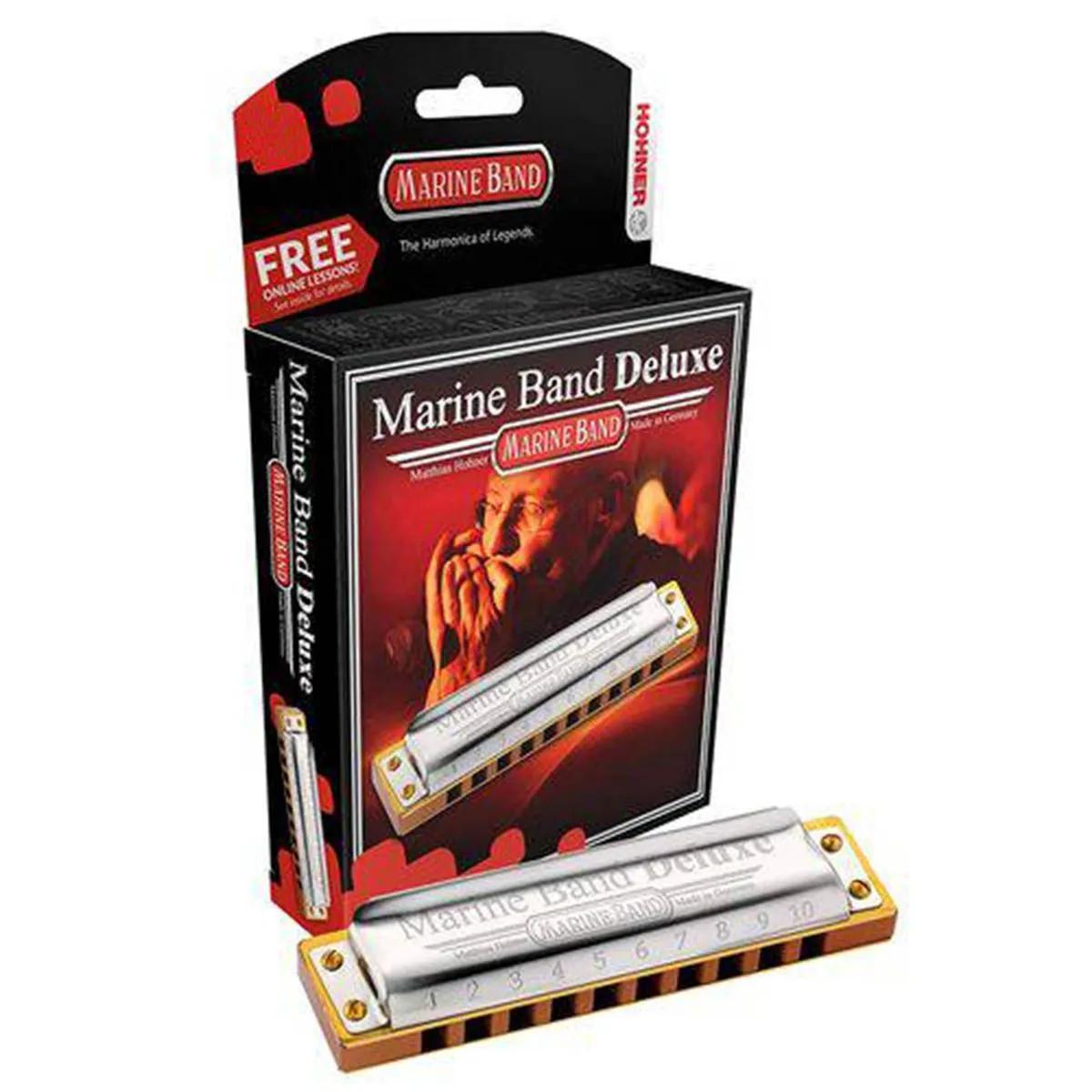 Gaita Diatônica Hohner Marine Band Deluxe F (Fá)